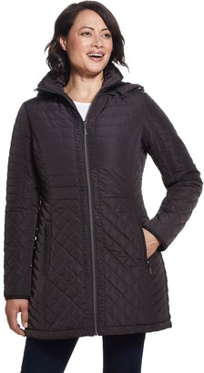 Gallery Faux-Fur-Lined Hood Quilted Jacket