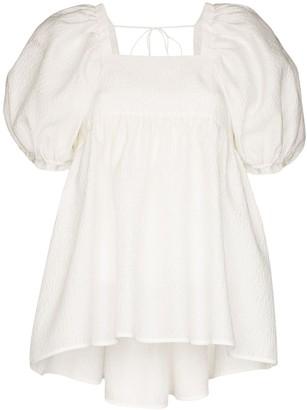 Cecilie Bahnsen Rita open back blouse