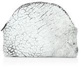 MR. Mr. Jones Bubbled Metallic Leather Cosmetic Case