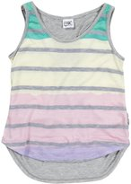 Erge Horizon Stripe Deep Racer Back (Kid) - Banana Teal-Small