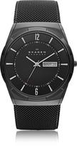 Skagen Melbye Black Stainless Steel Mesh and Titanium Case Multifunction Men's Watch