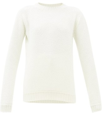 Johnstons of Elgin Johnston's Of Elgin - Honeycomb Brioche-knit Cashmere Sweater - Womens - Cream
