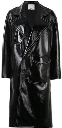 Tibi Patent Cocoon Coat