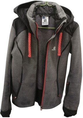 Salomon Grey Polyester Jackets