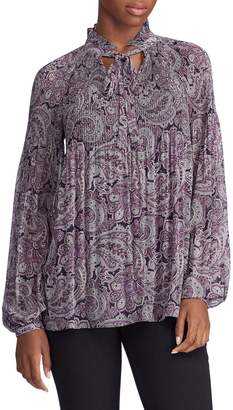 Lauren Ralph Lauren Printed Balloon-Sleeve Blouse