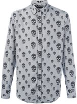 Alexander McQueen skulls and stripes print shirt