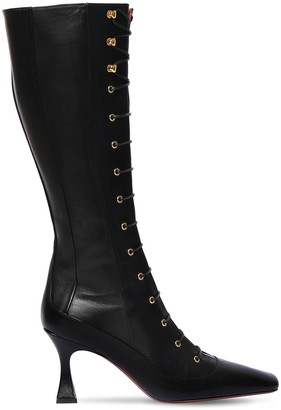 MANU Atelier 80mm Duck Leather Lace-Up Boots