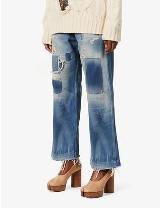 Maison Margiela Patchwork straight-leg high-rise jeans