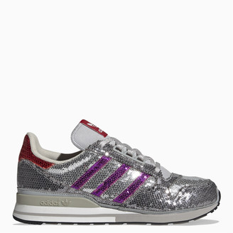 adidas Grey/purple/red ZX 500 sneakers