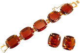 One Kings Lane Vintage Cognac Topaz Crystal Bracelet Suite