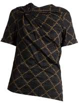 Etoile Isabel Marant Jancis geometric-print cotton top