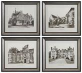 English Cottages Framed Wall Art - Set of 4