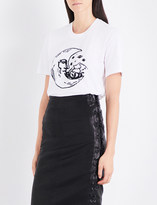 Markus Lupfer Sequin-embellished Moon cotton-jersey T-shirt