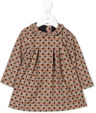Knot Leia polka-dot dress
