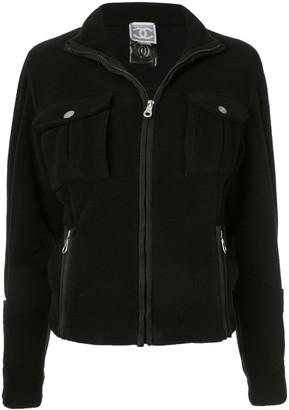 Chanel Pre Owned Fleece long sleeve coat jacket