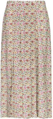 Rixo Georgia floral-print midi skirt