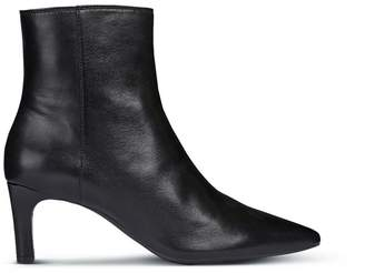 Geox Bibbiana Leather Ankle Boots with Stiletto and Pointed Toe