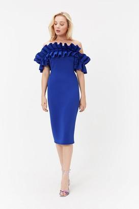 Coast Scuba Ruffle Bardot Dress