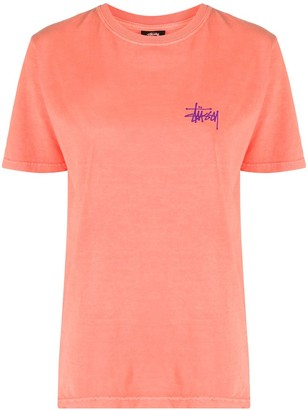 Stussy logo-print crew neck T-Shirt