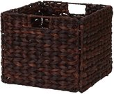 Household Essentials Natural Banana Leaf Storage Bin, Dark Stain