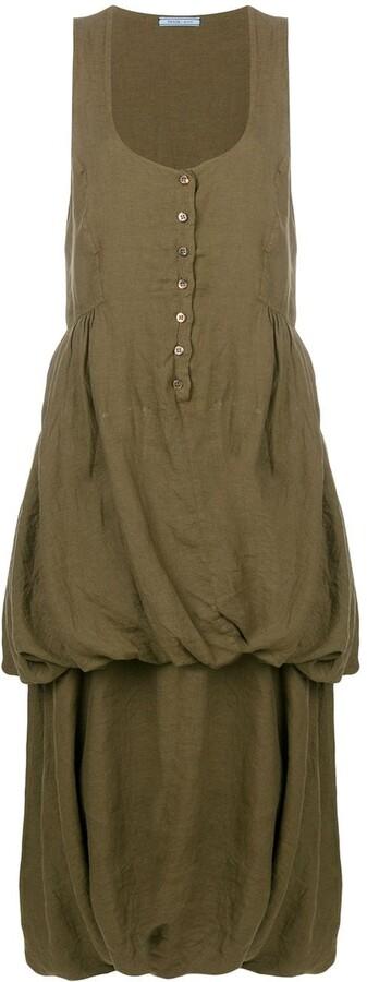 Prada Pre-Owned 1990 Tiered Sleeveless Dress