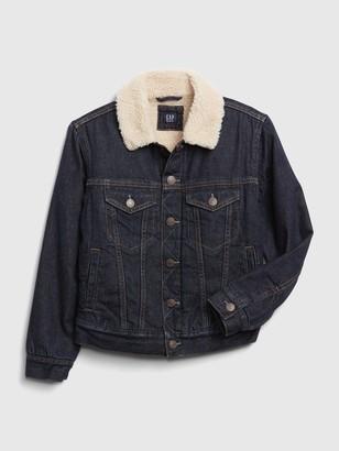 Gap Kids Sherpa Lined Denim Jacket