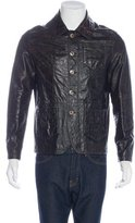 John Galliano Embossed Leather Jacket
