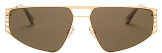 Mykita Cutout Stainless-steel Sunglasses - Mens - Gold