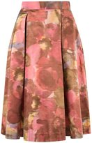 Gloria Coelho - printed midi skirt - women - Silk - 38