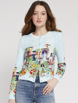 Alice + Olivia Ruthy Staceface Palace Cardigan