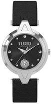 Versus By Versace VERSUS WOMEN'S 34MM LEATHER BAND STEEL CASE QUARTZ ANALOG WATCH SCI0816