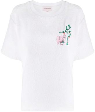 Natasha Zinko Terry elephant T-shirt