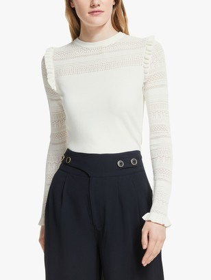 Somerset by Alice Temperley Pointelle Knit Top, Ivory