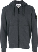 Stone Island zipped hoodie - men - Cotton - L