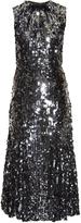 Dolce & Gabbana Sequin-embellished fluted midi dress