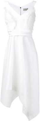 Preen by Thornton Bregazzi Ruffle Appliquee Asymmetric Dress