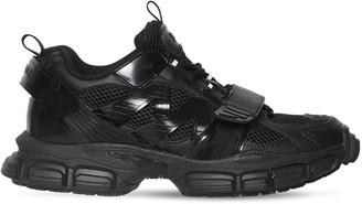 Juun.J Mesh & Faux Leather Sneakers