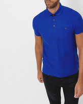 Ted Baker Textured jersey polo shirt
