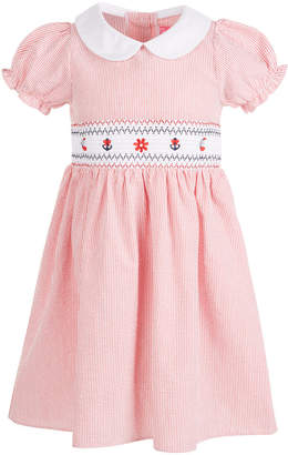 Good Lad Toddler Girls Embroidered Seersucker Smocked Dress