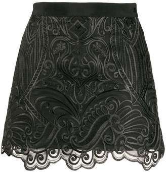 Wandering embroidered mini skirt