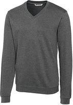 Cutter & Buck Charcoal Journey Supima Flatback V-Neck Pullover - Big & Tall