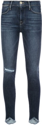 Frame Distressed Effect Skinny Jeans