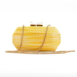 Likhâ Handloomed Clutch Sarsuela Shibori Sunshine Yellow