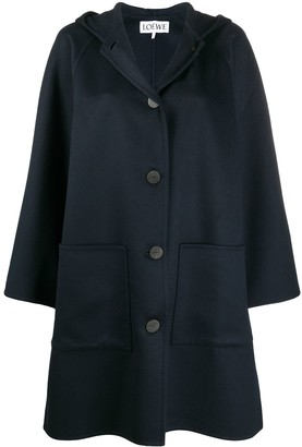 Loewe Hooded Single-Breasted Coat