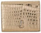 Jimmy Choo Hanne metallic bi-fold wallet
