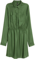 H&M Shirt Dress - Khaki green - Ladies