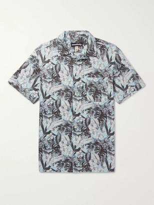 MONITALY Camp-Collar Floral-Print Cotton Shirt