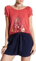 Lucky Brand Floral Triangle Graphic Tee