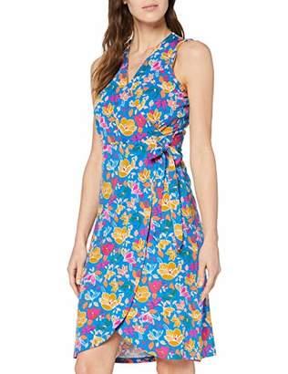 Joe Browns Women's Funky Floral Neon Wrap Dress Blue Multi (Size:UK )