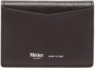 Metier - Multi Card Grained-leather Cardholder - Black